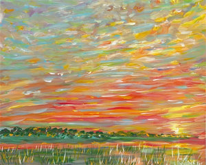 """Sunset on the marsh"" IV"