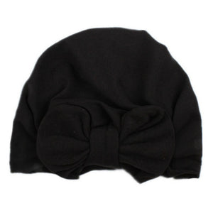 Newborn Baby Bow knot Hat Nursery Beanie Hospital Hat Turban Head Wraps Solid clothes accessories for Kids Boys Girls