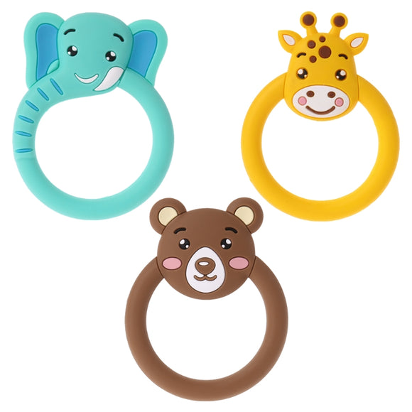 Baby silicone Teether Pacifier Cartoon Teething Nursing Silicone BPA Free Necklace Toys
