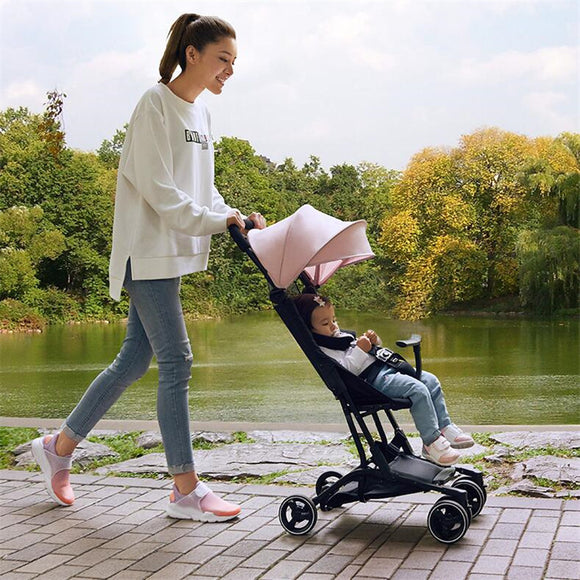 Luxury Foldable Baby Stroller KidsTravel bebek arabasi easy poussette kinderwagen baby car travelling pram pushchair