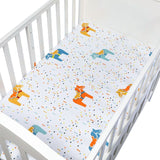 Baby Bedding Crib Fitted Sheet Soft Baby Bed Mattress Cover Protector Cartoon Print Newborn Bedding For Cot Size 130*70cm