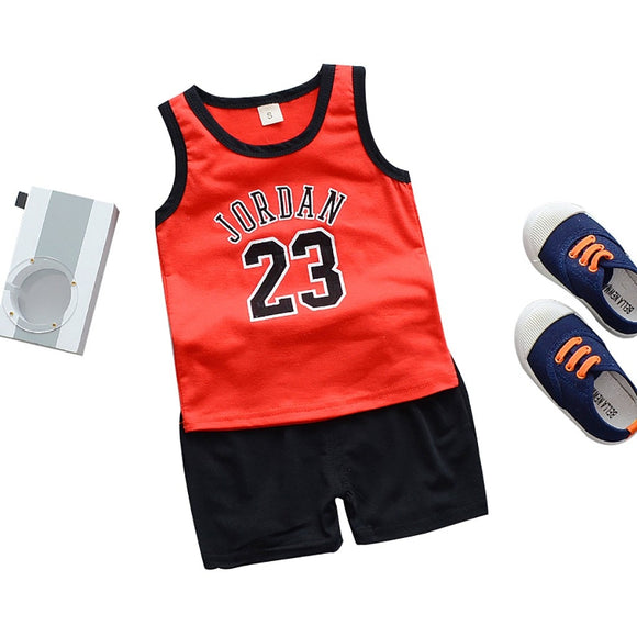 2pcs Set Toddler boy summer Sport Clothes Child's Basketball Uniform Baby Kids boys girls clothes set outfit roupa infantil 2019