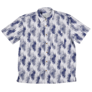 Bamboo Shirt-Navy Pines