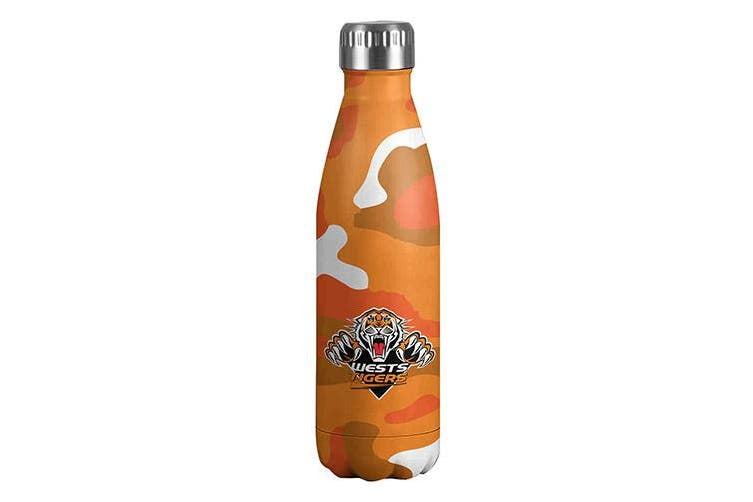 Wests Tigers Double Wall Insulated Drink Bottle