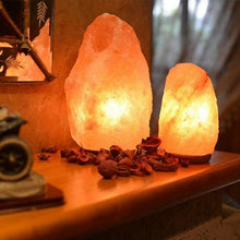 Load image into Gallery viewer, BRELONG Himalayan air purifying Crystal Salt Rock Lamp Gift Table Lamp Night Light Warm White US Regulations European Regulations 1 pc