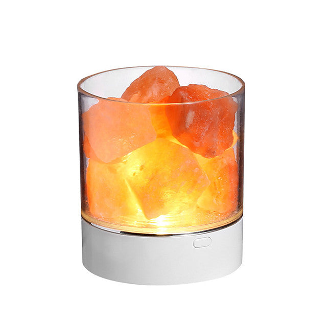 BRELONG Himalayan air purifying Crystal Salt Lamp LED Colorful Atmosphere Night Light Anion Air Purification