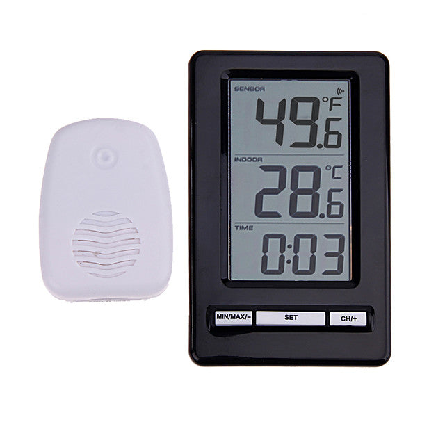 TS-WS-47 Wireless Digital Thermometer Indoor Outdoor Thermometer Time Display Clock Table Stand Weather Station