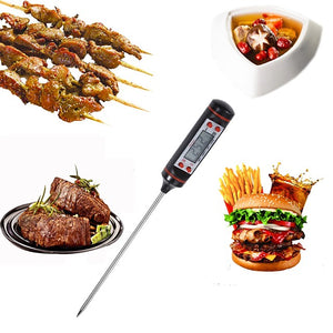 Kitchen Digital Food Thermometer Meat Cake Candy Fry Food BBQ Dinning Temperature Household Cooking Thermometer