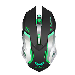 NEW X70 Wireless 2.4G Optical Gaming Mouse / Office Leisure Mobile Notebook Mouse/Ergonomic Mouse Led Breathing Light 2400 dpi 6 pcs Keys