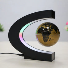 Load image into Gallery viewer, Magnetic Levitation Floating World Map Globe with C Shape Base Levitation Globe with LED Light for Kids Home Office 100-240V(US Plug EU Plug)