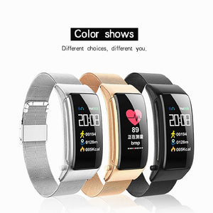 KUPENG A9 Smart Bracelet Smartwatch Android iOS Bluetooth Touch Screen Heart Rate Monitor Blood Pressure Measurement Sports Calories Burned Pedometer Call Reminder Activity Tracker Sleep Tracker