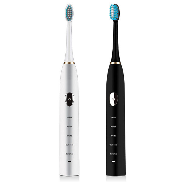Waterproof Electric Toothbrush for Kids and Adults Daily Care with Automatic Timer and Precision Clean Brush Head Electric Toothbrush 38000 Black
