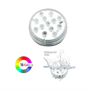 1 Set Waterproof RGB Led Lamp with Remote Submersible LED Lights Decoration Light for 8.5CM-with 28 Key Remote Control