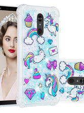 Load image into Gallery viewer, Case For LG LG Stylo 5 Shockproof / Dustproof / Flowing Liquid Back Cover 3D Cartoon / Glitter Shine Soft TPU