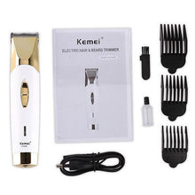 Load image into Gallery viewer, Kemei KM-604B 110-220V Hairdressing Cut Hair Shaving Electric Wireless Charging indicator Handheld Design Hairdresser Fader Multi-shade Low Noise Hair Trimmers
