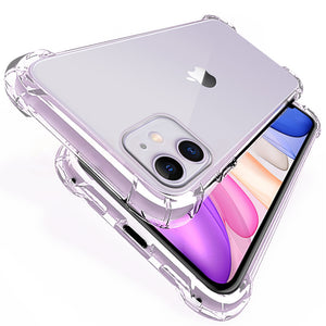 Luxury Shockproof Silicone Phone Case For iPhone 11  MAX 6 6s 7 8 Plus Case Covers Transparent Protection Back Cover