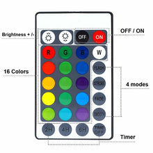 Load image into Gallery viewer, 1 Set Waterproof RGB Led Lamp with Remote Submersible LED Lights Decoration Light for 8.5CM-with 28 Key Remote Control