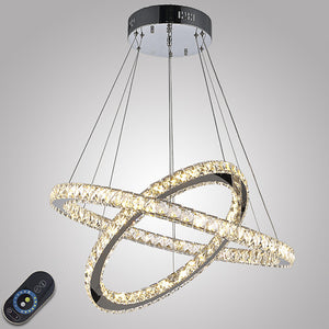 70 cm Crystal / Dimmable / LED Pendant Light Metal Electroplated Modern Contemporary 110-120V / 220-240V