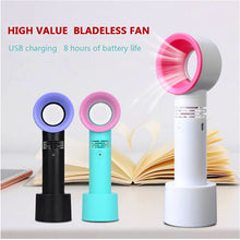 Load image into Gallery viewer, Mini Fan Cooler Bladeless-Fan Ventilator Student Portable Desktop Handheld Usb Charging Small Fan