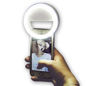 3.35inch Selfie Ring Light TikTok Light Youtube Video Clip On Mobile Phone Circle Ring Flash Lens Beauty Fill Light Lamp For Smartphone Tiktok Portable 1pc