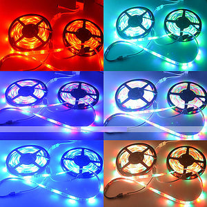 ZDM 10M(2*5M) Waterproof 2835 RGB 48W 600 LEDs 8mm Strip Flexible Light LED with 44Key IR Remote Controller Kit and 1BIN2 Connecting line(DC12V)
