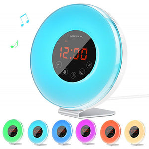 Led Touch Clock Light With FM Radio To Simulate Sunrise And Sunset