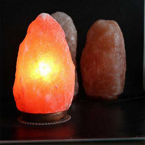 BRELONG Himalayan air purifying Crystal Salt Rock Lamp Gift Table Lamp Night Light Warm White US Regulations European Regulations 1 pc