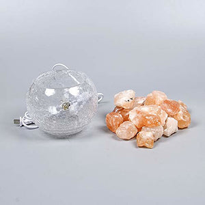 BRELONG LED Himalayan air purifying Salt Lamp Interior Night Light Bedroom Decoration