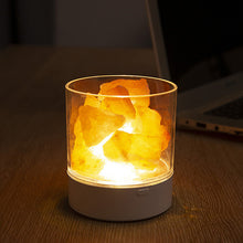 Load image into Gallery viewer, BRELONG Himalayan air purifying Crystal Salt Lamp LED Colorful Atmosphere Night Light Anion Air Purification