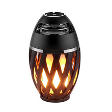 Load image into Gallery viewer, 1pc Bluetooth Speaker USB Led Flame Lights Outdoor Portable Led Flame Atmosphere Lamp Stereo Speaker Outdoor Camping Woofer Mini