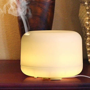 1pcs 500ml Ultrasonic Air Humidifier Aroma Essential Oil Diffuser Aromatherapy Hmidificador 7 Color Change LED Night Light For Home