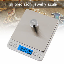 Load image into Gallery viewer, 500g/0.01g LCD-Digital Screen Auto Off Electronic Kitchen Scale Digital Jewelry Scale Mini Pocket Digital Scale with 2 Trays