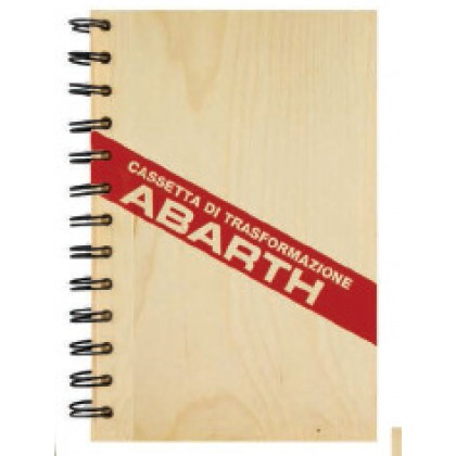Abarth Pine Wood Notebook