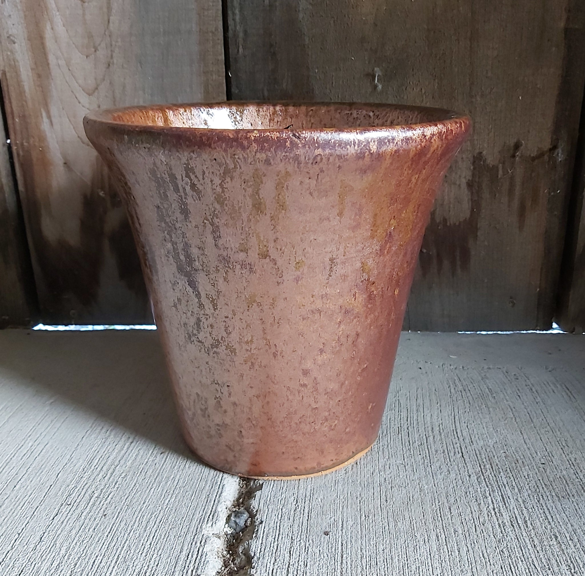 Glazed Ceramic Planter - Cayenne
