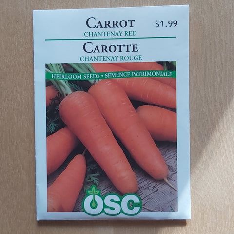 Carrot Seeds - Chantenay Red