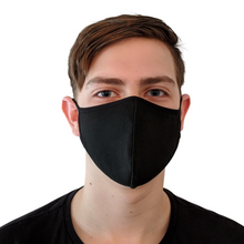 Load image into Gallery viewer, Black Cotton Reusable Face Masks (5 pack)