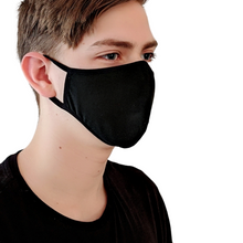 Load image into Gallery viewer, Black Cotton Reusable Face Mask (1 mask)