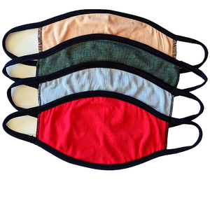 Comfort Fit Face Masks (5 pack / choice of colours)