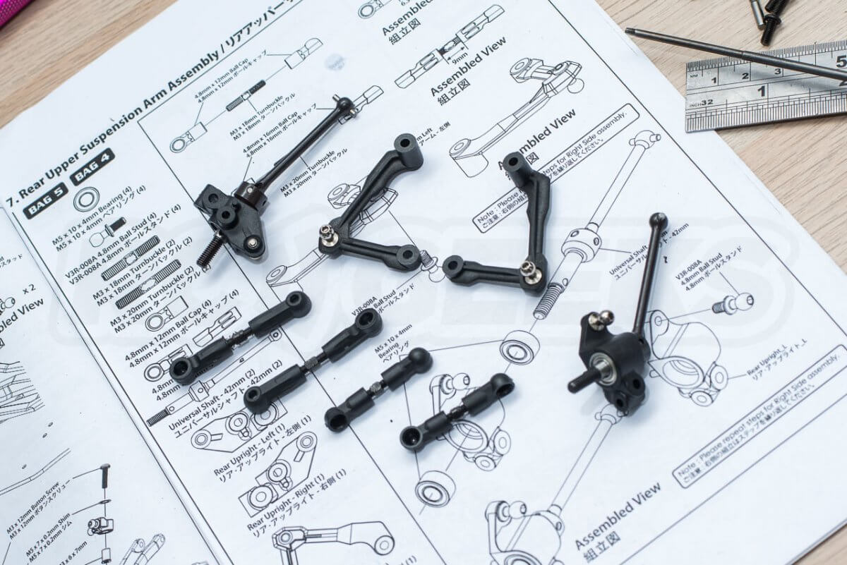 3Racing Sakura FGX2018 F1 Car kit 6 rear suspension arms and links