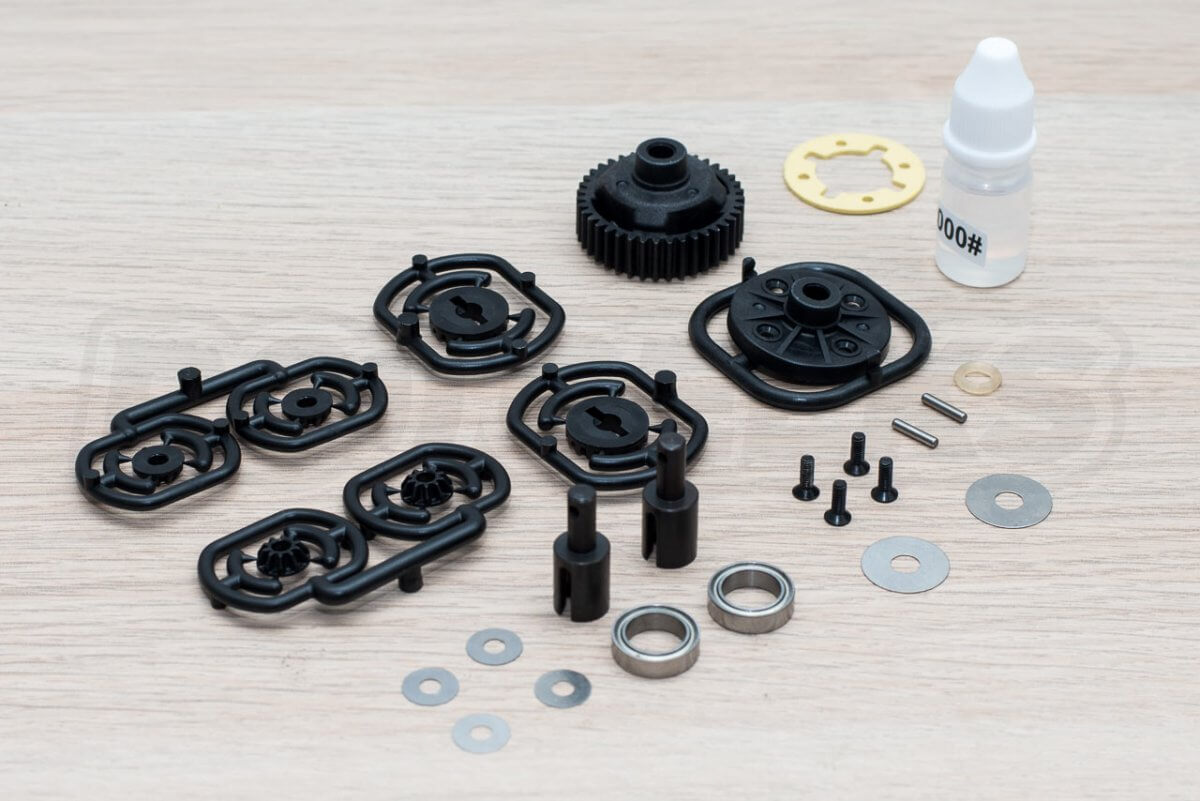 3Racing Sakura FGX2018 F1 Car kit build 1 gear differential assembly components