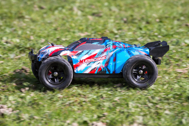 Absima Hurricane Thunder 18th scale review hurricane on grass side fast