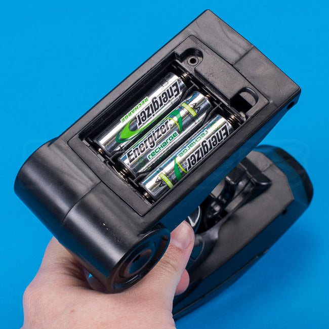 Absima Hurricane Thunder 18th scale review transmitter batteries installed