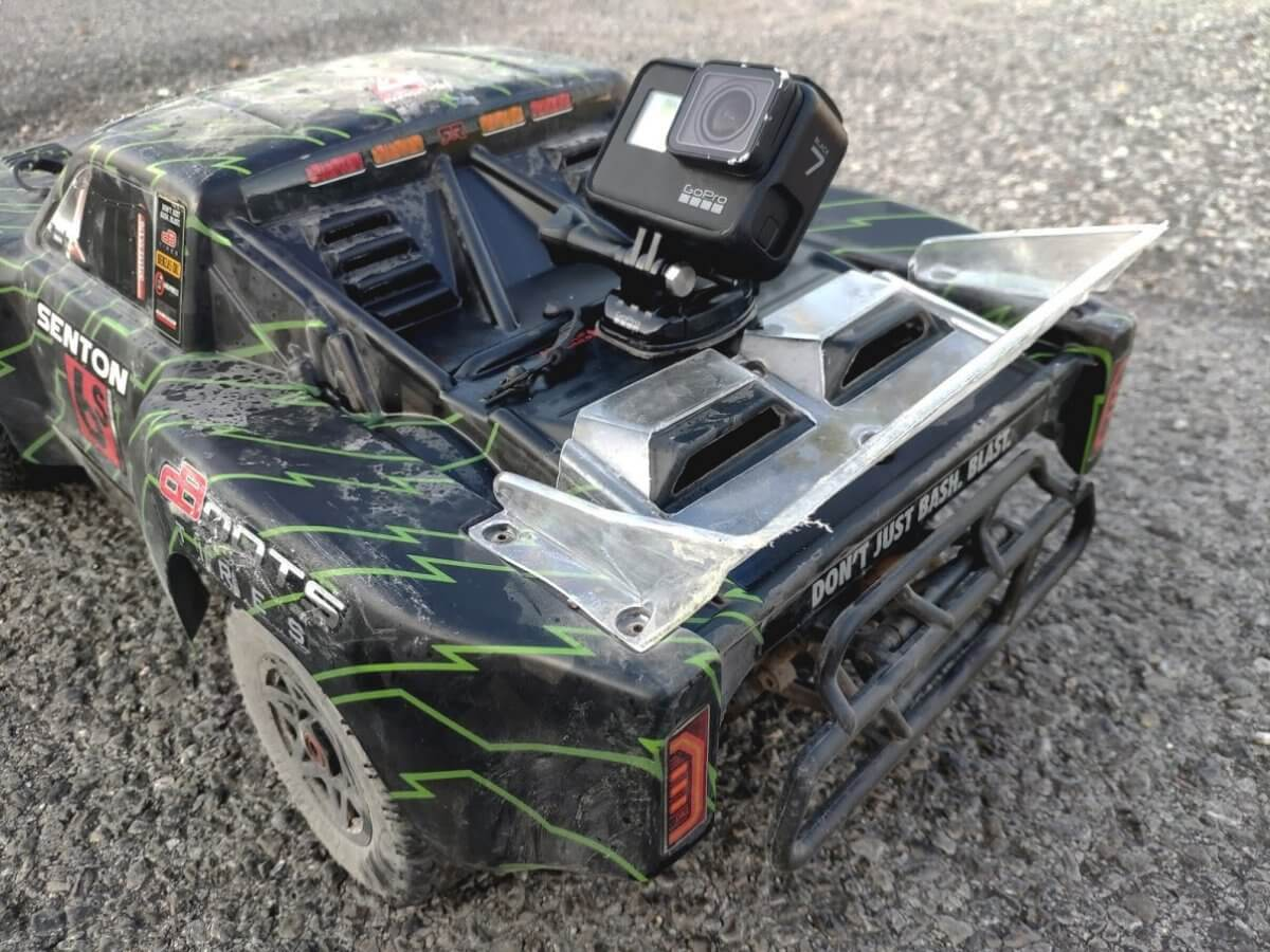 Arrma Senton 6S review speed test with GoPro 7 rear mounted