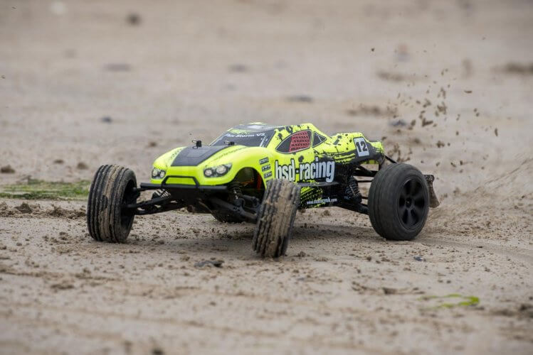 BSD Racing Flux Storm V2 Truggy Review on sand countersteer