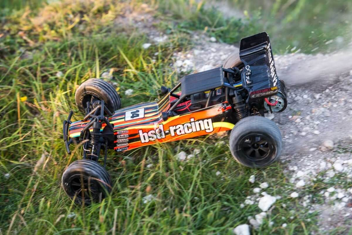 BSD Racing Prime Baja V3 Brushed Buggy black orange shredding