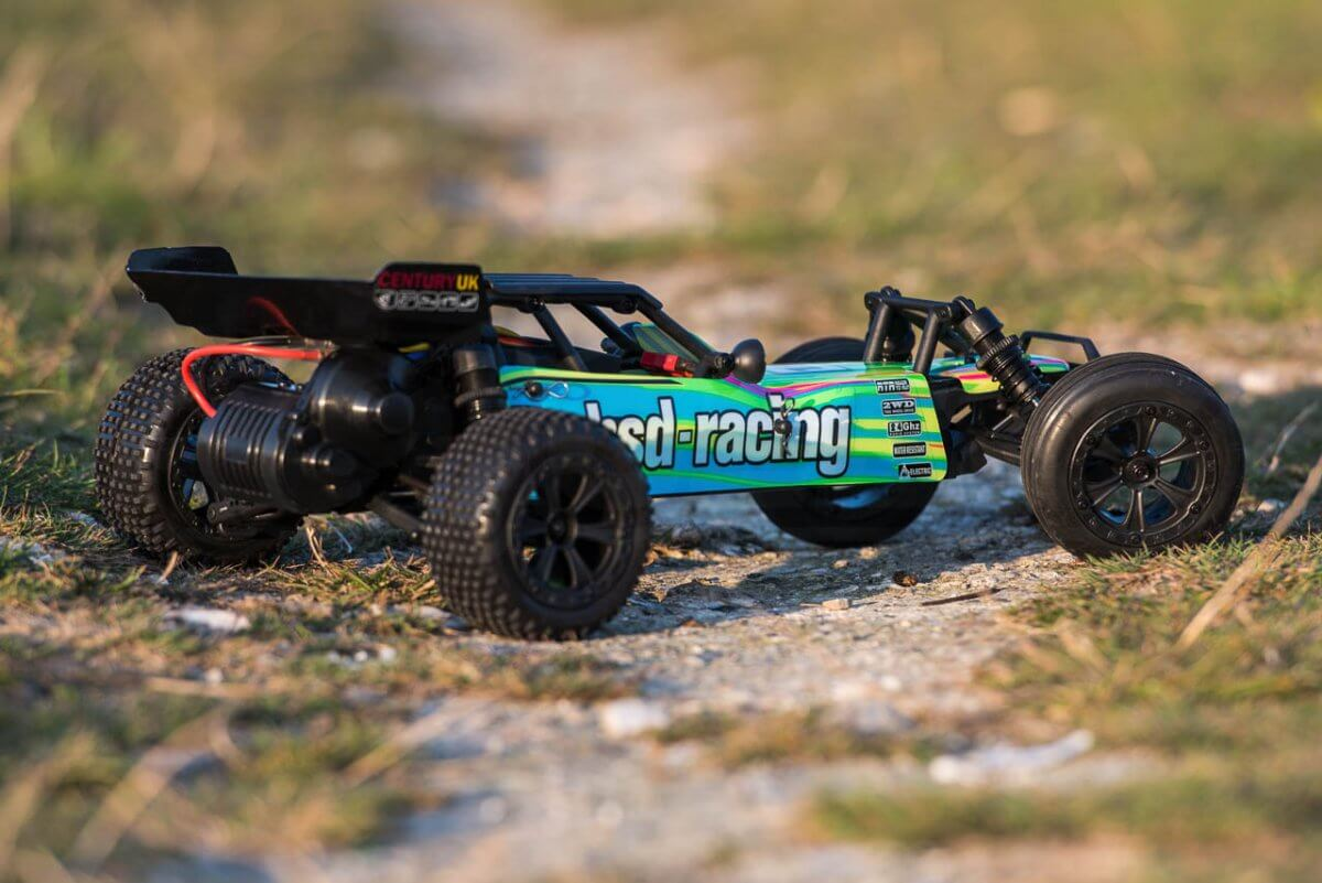 BSD Racing Prime Baja V3 Brushed Buggy green yellow livery REAR