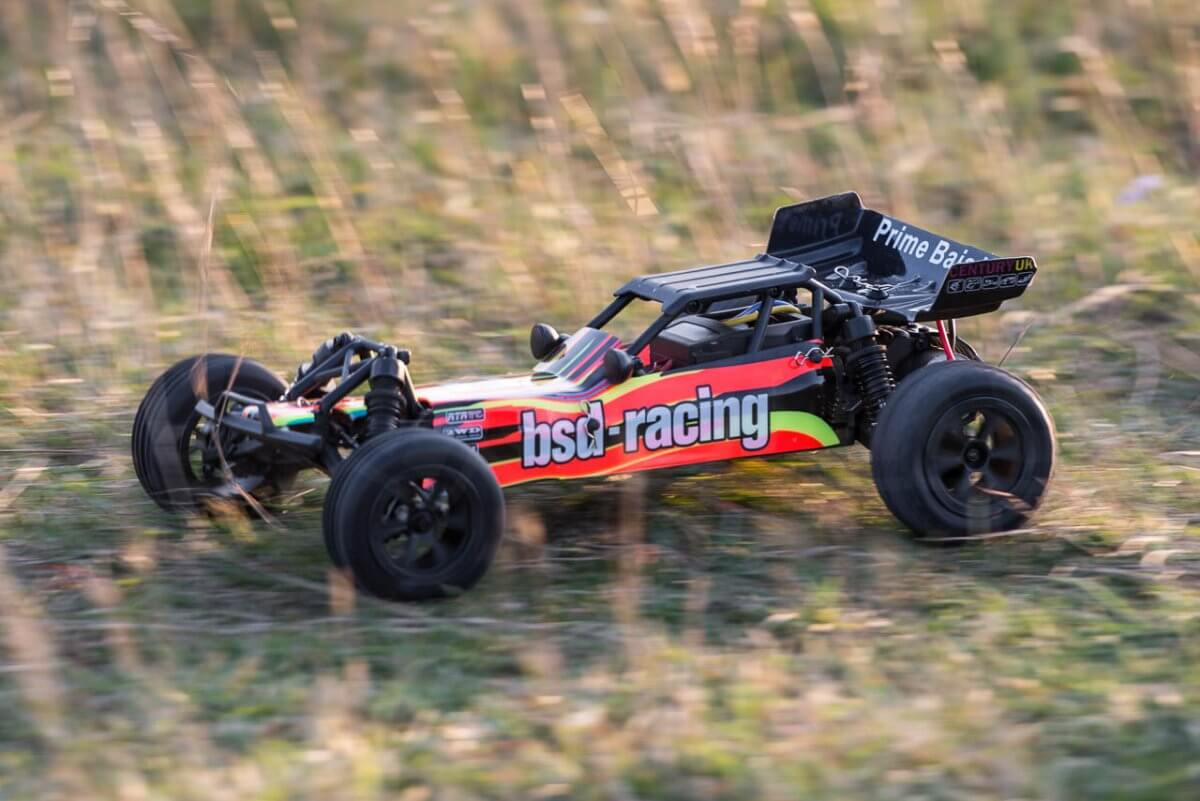 BSD Racing Prime Baja V3 Brushed Buggy review driving hard