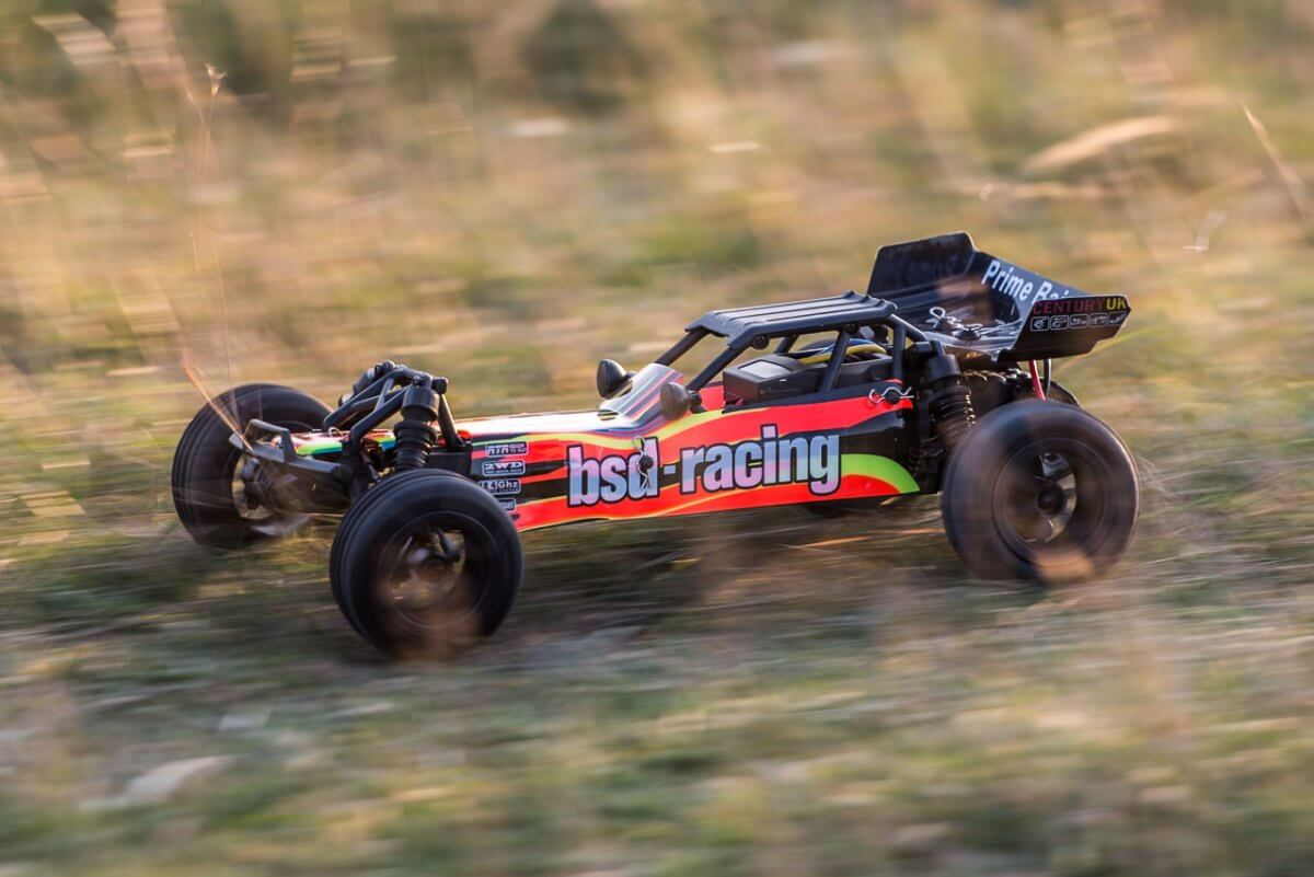 BSD Racing Prime Baja V3 Brushed Buggy review high speed driving