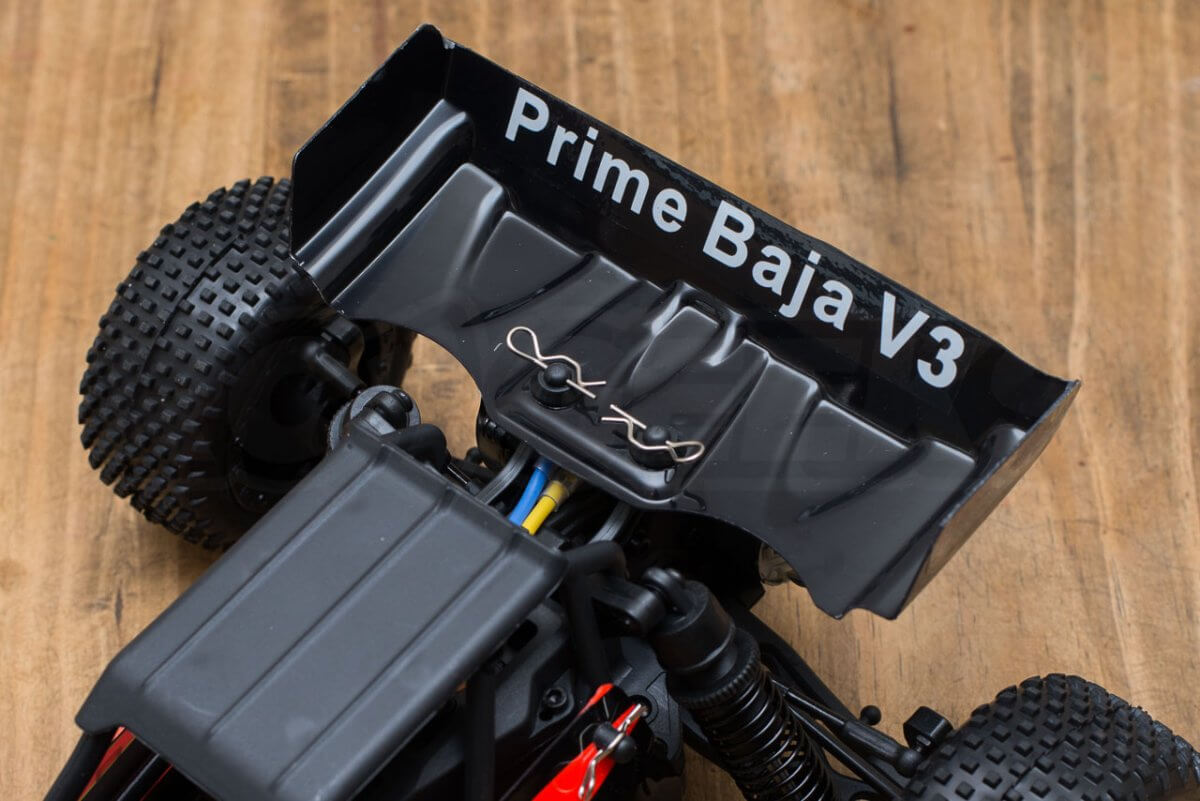 BSD Racing Prime Baja V3 Brushed Buggy review orange black rear wing