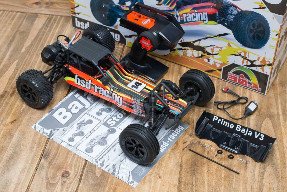 BSD Racing Prime Baja V3 Brushed Buggy review unboxing